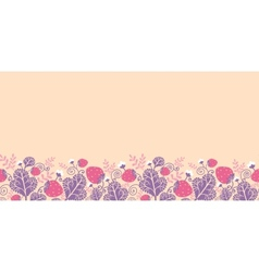 Strawberries horizontal seamless pattern vector image