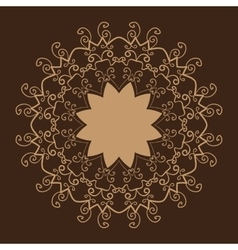 Stylized Oriental Lace Brown ColorOriental vector image