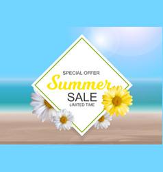 Summer sale concept poster background vector