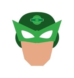 superhero superman mask face design vector image vector image
