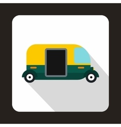 Thailand three wheel native taxi icon flat style vector image