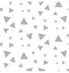 Triangle dotted geometric pattern vector