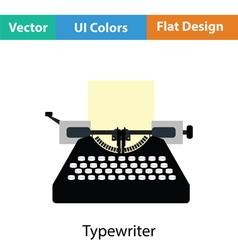 Typewriter icon vector image
