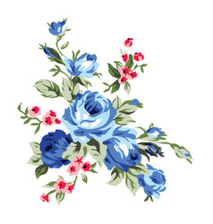 Vintage chintz flowers design and decoration vector