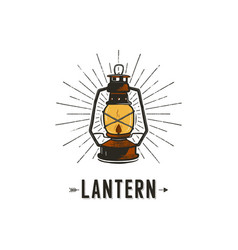 Vintage hand-drawn lantern concept perfect for vector