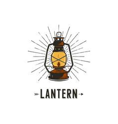 Vintage hand-drawn lantern concept perfect vector