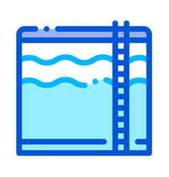 water treatment big tank with ladder icon vector image