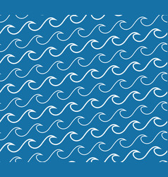 Wave lines seamless pattern vector