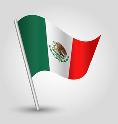 Waving simple triangle mexican flag vector