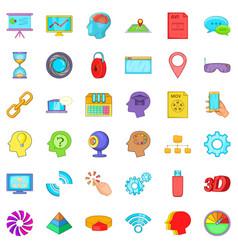 Web camera icons set cartoon style vector