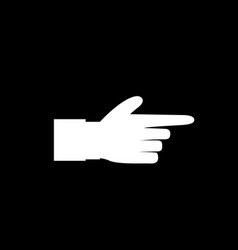 white hand with index finger pointing isolated on vector image