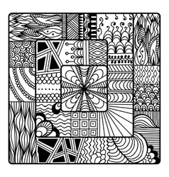 Zentangle for coloring book doodle vector image
