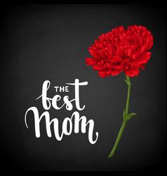 best mom hand drawn brush pen lettering on vector image