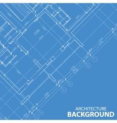 Blueprint best architecture model vector image vector image