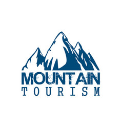 mountain tourism sport icon vector image vector image
