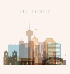 san antonio state texas skyline detailed silhouett vector image vector image