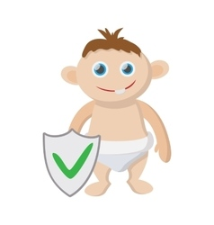 Baby insurance icon cartoon style vector image vector image