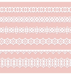 background with laces vector image