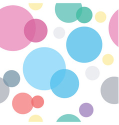 Colorful circles seamless geometric pattern vector