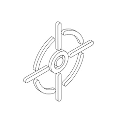 Crosshair reticle icon isometric 3d style vector image