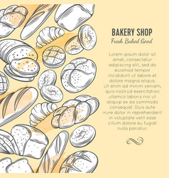 food template banners with bread vector image