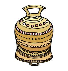 Gold wedding bell ship bell church bell ink vector