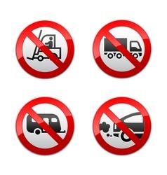 set prohibited symbols - transport vector image vector image