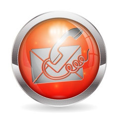 Button Contact Us vector image vector image