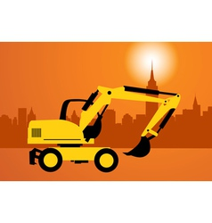 digger construction vector image vector image