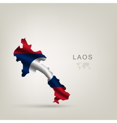 flag of Laos as a country vector image vector image