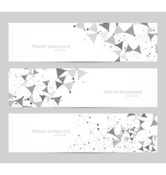 Polygonal banners vector image vector image