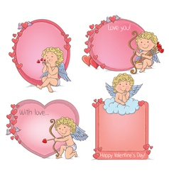Vignettes Valentines Day vector image vector image