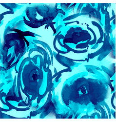 watercolor floral pattern seamless pattern vector image vector image