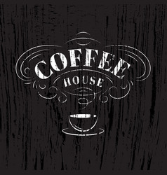 coffee house sign vector image