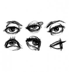 eye selection vector image