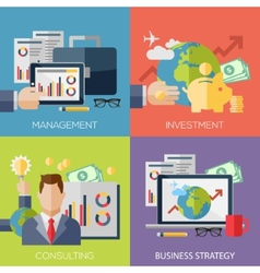 Flat design concepts for business strategy vector image vector image