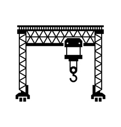 Lifting Machine Icon on White Background vector image vector image