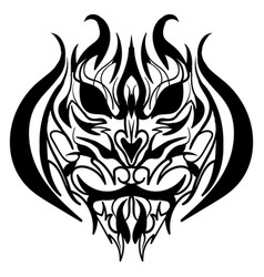 the stylized image of a tiger head vector image