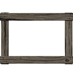 Wooden old frame vector image vector image