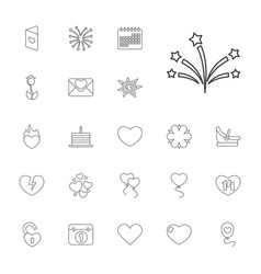 22 day icons vector
