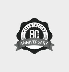 80 th anniversary celebrations template design vector