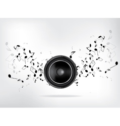 Abstract music retro grunge background vector image