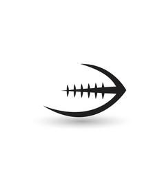 american football ball - icon vector image