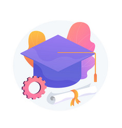 Bachelor degree concept metaphor vector