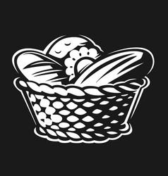 bakery basket vector image
