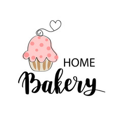 bakery dessert shop or bakehouse logo tag vector image