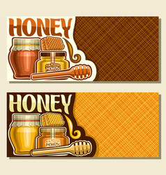 Banners for rustic honey vector