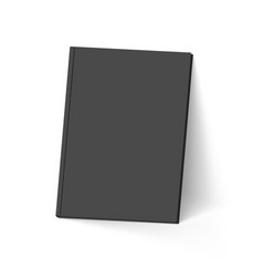 black book on white mockup template vector image