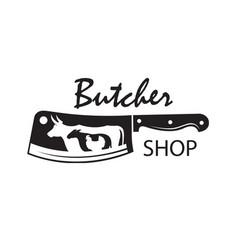 butcher shop emblem vector image