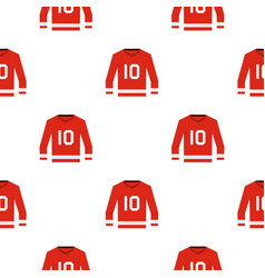 Canadian hockey jersey pattern seamless vector